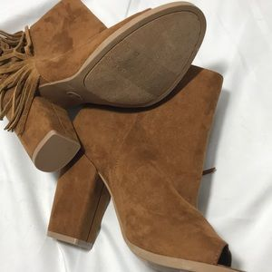 dv by Dolce Vita Suede Booties W/ Fringe